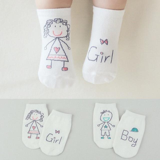 0 - 4 лет девочек мальчиков милый каракули рисунок печать носки подходящие для детей ...