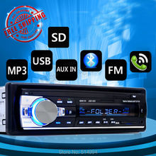 New arrival!car radio player Support BLUETOOTH answer hang up the phone USB SD AUX IN 12V 1 din audio stereo mp3 free shipping(China (Mainland))
