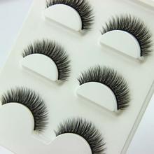 3 Pairs/1 set 3D Cross Thick False Eye Lashes Extension Makeup Super Natural Long Fake Eyelashes New(China (Mainland))