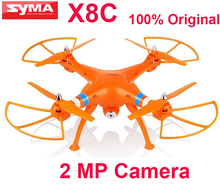 (In stock) Original Syma X8C 2.4G 4ch 6 Axis Venture with 2MP Wide Angle Camera RC drone RTF RC Helicopter With two batteries