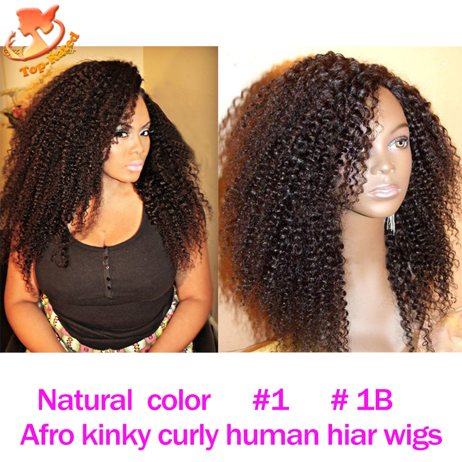 7A Mongolian Kinky Curly Lace Front Human Hair Wigs Glueless Afro Kinky Curly Lace Wig For Black Women Afro Curly Full Lace Wig(China (Mainland))