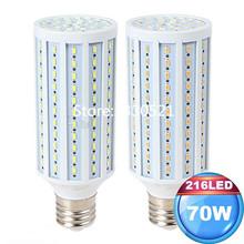 NEW 70W 216LEDs Samsung SMD5630 LED Corn Lamp Bulb E26 E27 E39 E40 LED Corn Light 7000 Lumens LED Lighting Bulbs AC 85-265v(China (Mainland))