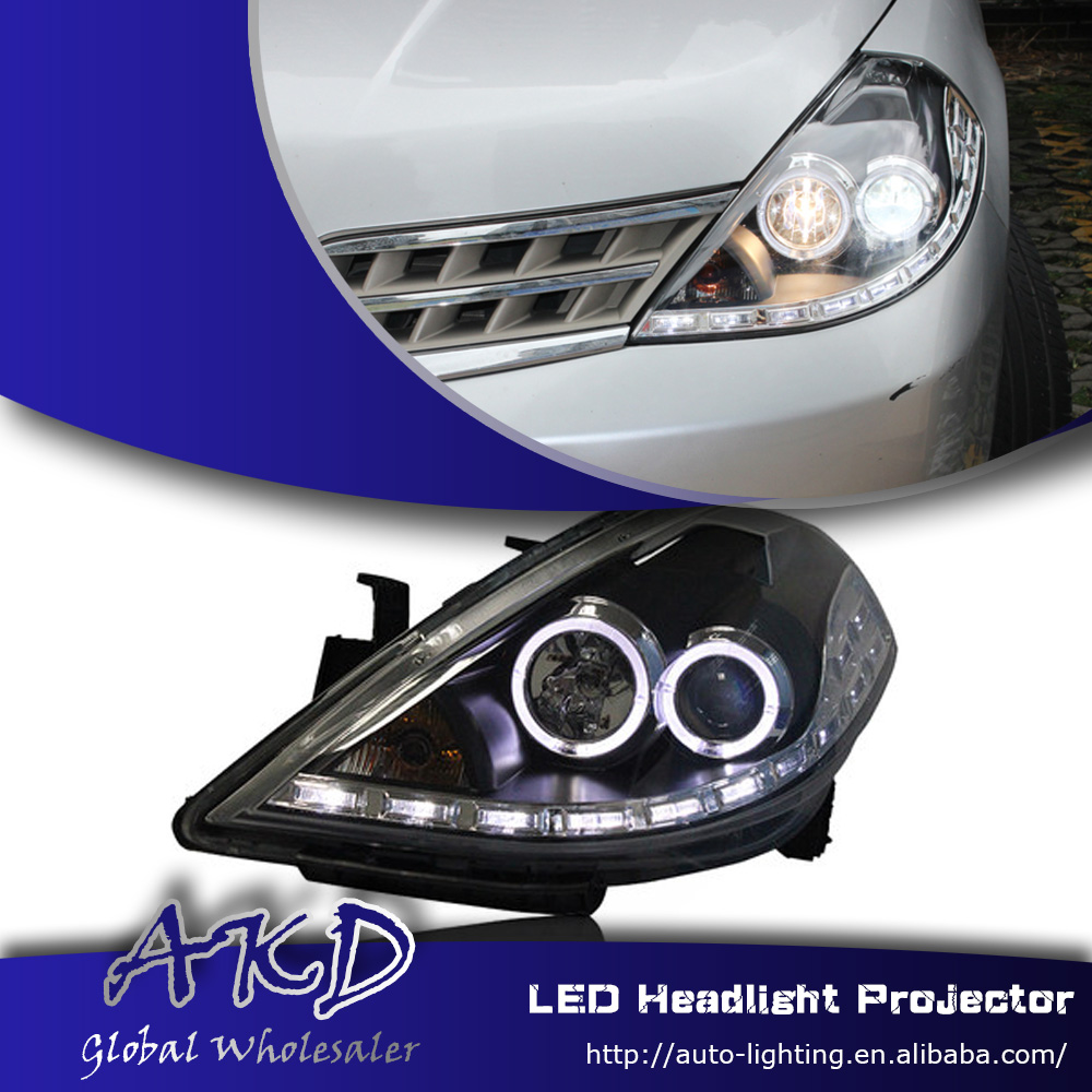 One-Stop Shopping Styling for Nissan Tiida LED Headlight 2008-2011 Tiida LED DRL Lens Double Beam H7 HID Xenon Car Accessories(China (Mainland))