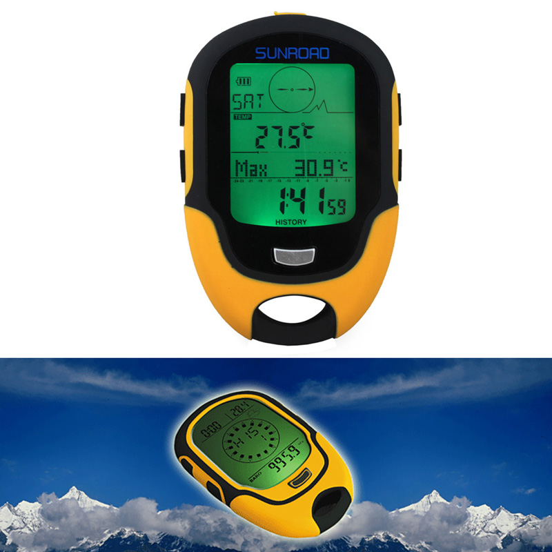 Waterproof FR500 Multifunction LCD Digital Altimeter Barometer Compass Free Shipping ARE4(China (Mainland))