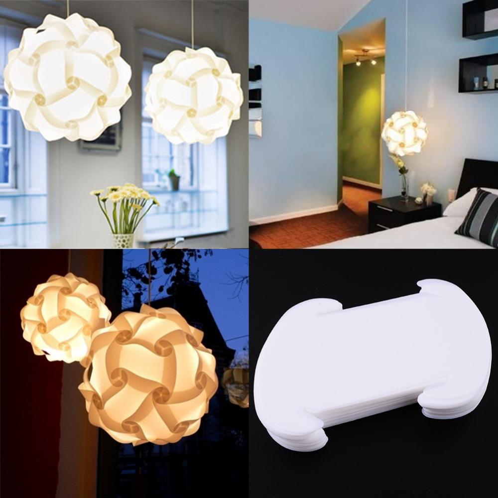 Elements IQ Puzzle DIY Creative Jigsaw Bar Decor Light Lamp Shade Lampshade Design Size S Home Decoration(China (Mainland))
