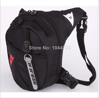 Black Drop Leg Motorcycle Cycling Fanny Pack Waist Belt Bag