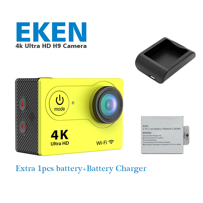 Original Eken H9 Ultra HD 4K Video 170degrees Wide Angle Sports action Camera 1080p  wifi sport Cam+1 extra battery and charger <br><br>Aliexpress