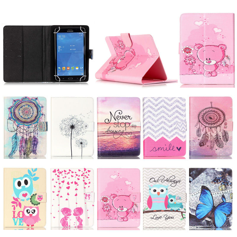 For Amazon Kindle Fire HD 7 Printed PU Leather case cover For Amazon Universal Tablet cases 7.0 inch Android for kids S4A67D(China (Mainland))