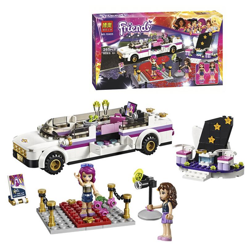 Bela 10405 friends series Pop Star's Luxury car 265pcs building blocks bricks toys children gift Legoe compatible(China (Mainland))