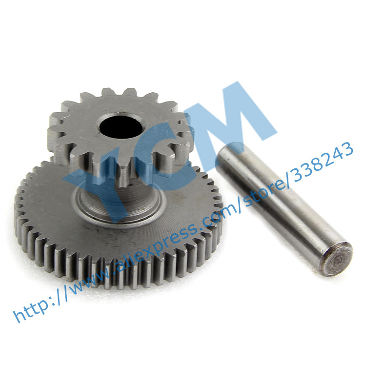 Double Gear font b GY6 b font 125 150cc Startup Disk Tooth 152QMI 157QMJ Spare Parts