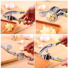 Hot Garlic Press Hand Presser Crusher Ginger Squeezer Slicer Masher Kitchen Tool New(China (Mainland))