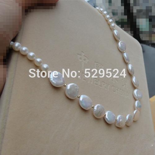 Baroque sweater chain Value handmade custom zircon fan tassel sweater chain bead light Steamed buns pearl necklace jewelry(China (Mainland))