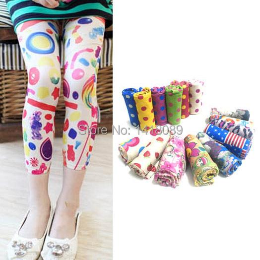 0806 Toddlers Child Baby Kids Girls Leggings Trousers Pants Underwear Pattern 5-12T(China (Mainland))