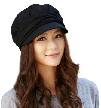 Hot Sale Fashion New Lady Women beret hats Beanie winter autumnHat female Solid outdoor knit berethat Thin black Octagonal cap(China (Mainland))