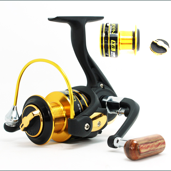 Fishing reel KB 12BB Spinning Fishing Reel Carp Ice Fishing Gear 5.1:1 Real Pesca baitcasting wheel(China (Mainland))