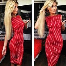 Buy 2017 New Summer Sexy Party Dresses Princess Open Back Bow Backless Dresses Wave point backless sexy tight dress Vestidos 154 for $7.48 in AliExpress store
