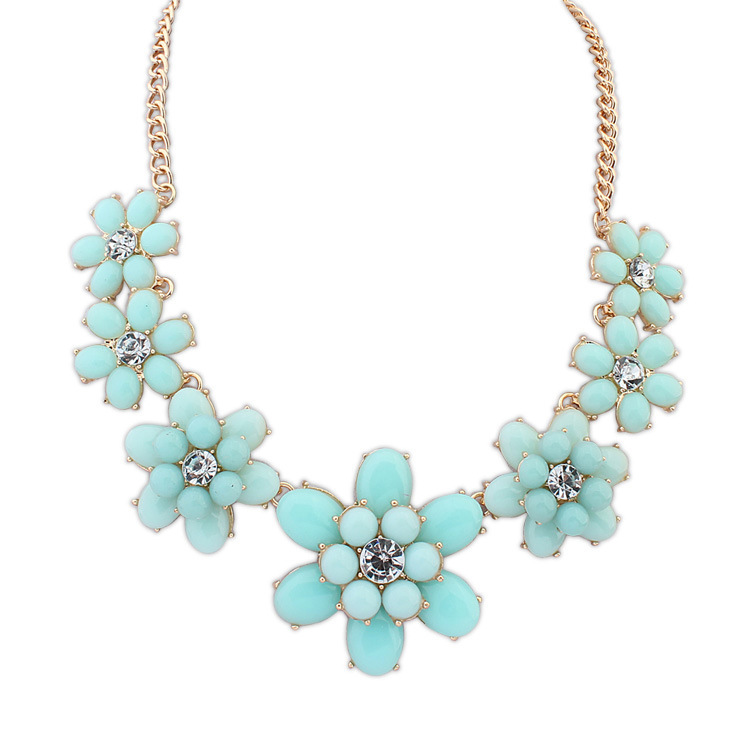 2014 Real Sale Necklaces Pendants Necklace Export Jewelry New Pendant Fashion Flowers Sugar Flower And Exaggerated Ornaments(China (Mainland))