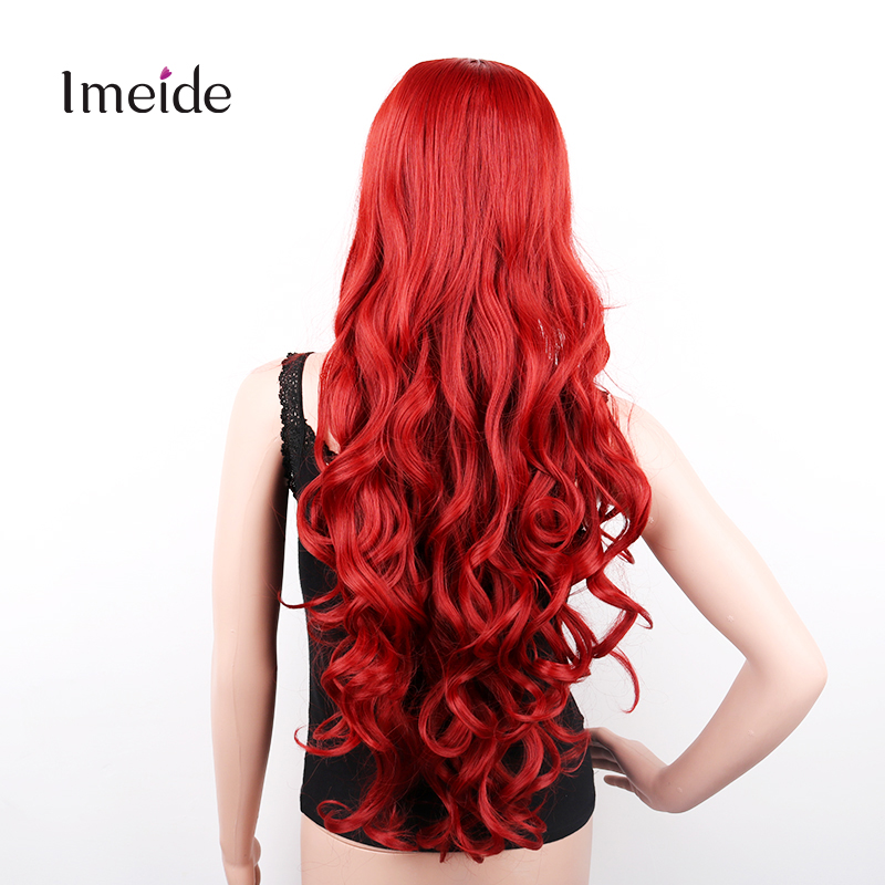 """32"""" 80cm Long Synthetic Hair Cosplay Wigs Curly Natural Wig Perucas for Black Women Perruque Pelucas Sinteticas Red Blue Purple(China (Mainland))"""