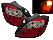 CrazyTheGod  ASTRA H 2004-2009 5D Hatchback LED Tail Rear Light RED/CLEAR for OPEL(China (Mainland))