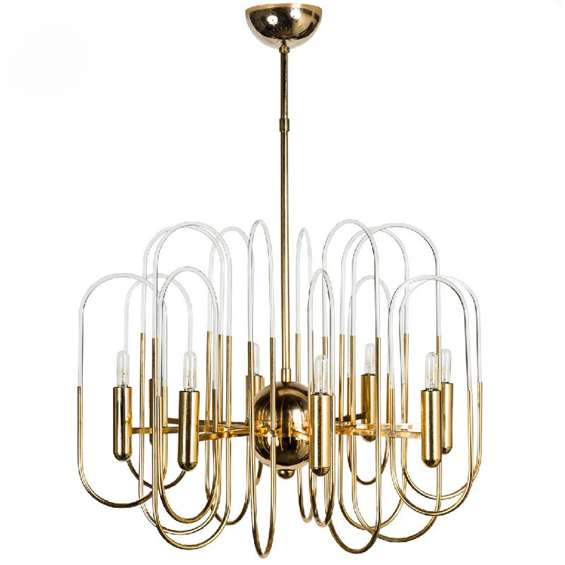Art Modern Metal Chandelier Creative Acrylic Tube Brief Suspension Light Living Room Hall Office Kitchen Light Fittings(China (Mainland))