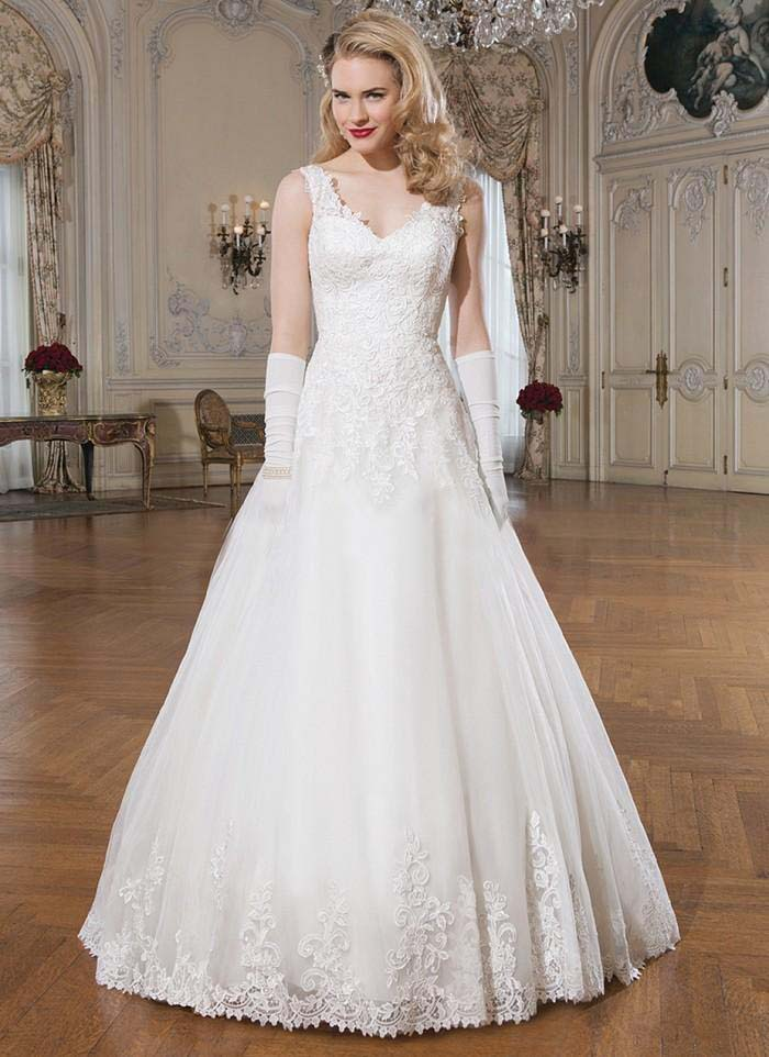 Elegant a line wedding dresses 2016 hot sale appliques for Wedding dress for sale cheap