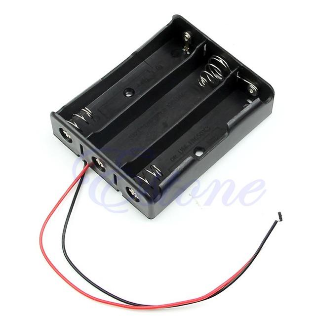 """J35 черный пластмассовый Box чехол держатель для аккумулятор 18650 с 6 """" 3"""