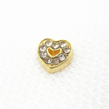 Buy 20pcs/lot Hot Selling Gold Crystal Heart Floating Charms Living Glass Memory Floating Lockets DIY Jewelry Charms for $4.19 in AliExpress store