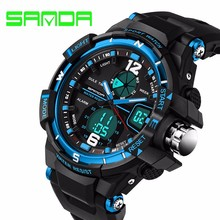 Sanda Brand Men Glow Sport Watches30m waterproof Digital LED Military s shock Watch Wristwatches Relogio Masculino electronic