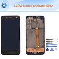 Original LCD for Alcatel OT6012 6012A 6012X LCD display touch screen digitizer frame full assembly black