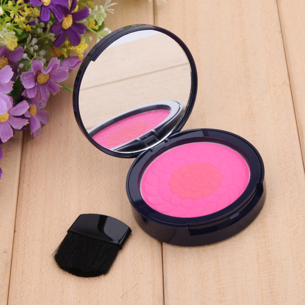 1Pcs Professional Women Cosmetic Blush Beauty Lovely Pink Makeup Blusher Powder Palette Blush Eye Shadow K5BO(China (Mainland))