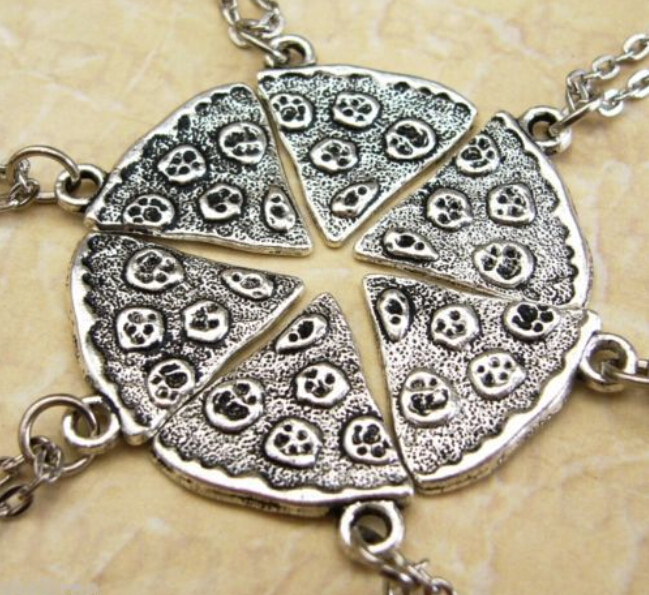 Fashion Tibetan Silver Delicious pizza Charms Statement Necklace&Pendants DIY Jewelry For Woman 10pcs B383(China (Mainland))
