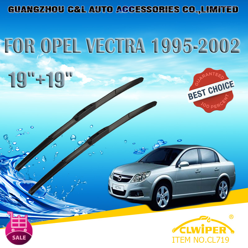 "For OPEL VECTRA (1995-2002), Exclusive Car Windshield Windscreen Wiper Blade 19""+19"" Fast shipping Cars styling accessories(China (Mainland))"