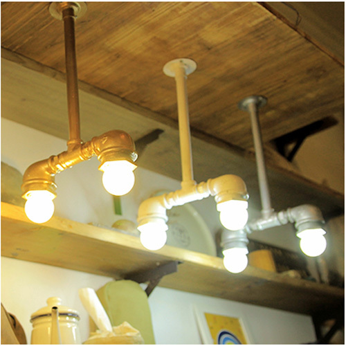 loft american vintage water pipe lights fashion