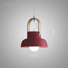 Скандинавский чердак светодиодный железный подвесной светильник для ресторана, комнаты(China)