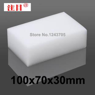 100 pcs/lot Wholesale White Magic Sponge Eraser Melamine Cleaner,multi-functional Cleaning 100x70x30mm Big size Free Shipping(China (Mainland))