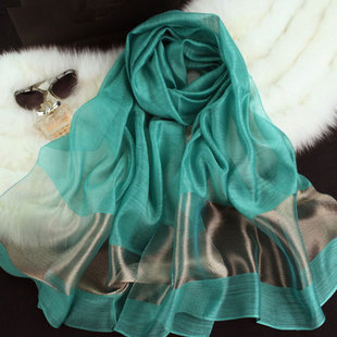 Free shipping 2015 New fashion women scarf silk Scarves & Wraps solid Silk Shawls gold silk scarves(China (Mainland))