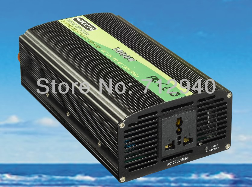 1000W+MCU Modified Sine Wave Inverter With Intelligence DC12V/24V Input Wind Car Or Solar Power System Inverter Free Shipping CE(China (Mainland))