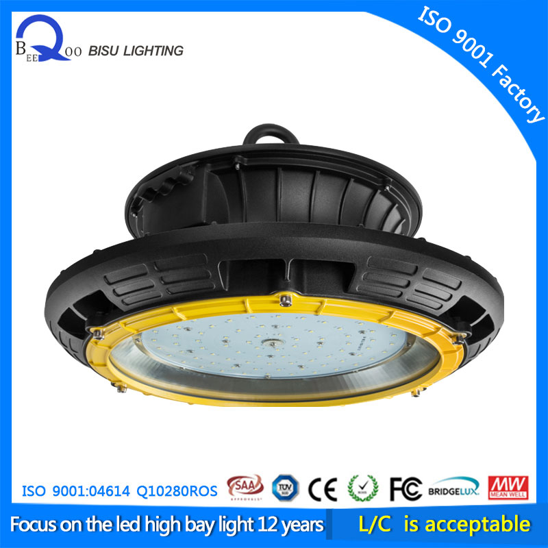 Innovation industrial lighting warehouse 200w UFO led high bay light meanwell driver IP65 200w(China (Mainland))