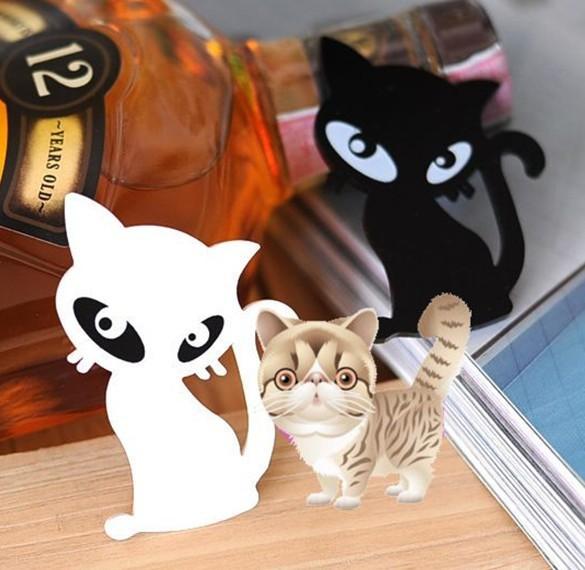 2pcs  Fashion Jewelry Black white cat brooch Cat Brooch Animal Jewelry Acrylic Brooch
