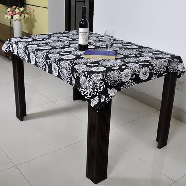 Black-matrix chrysanthemum 100% cotton fabric canvas table cloth tablecloth gremial dining table cloth(China (Mainland))