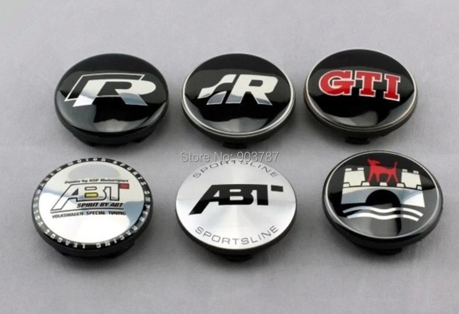 100pcs VW 65mm black alloy GTI wheel center caps car emblem badge wholesale<br><br>Aliexpress