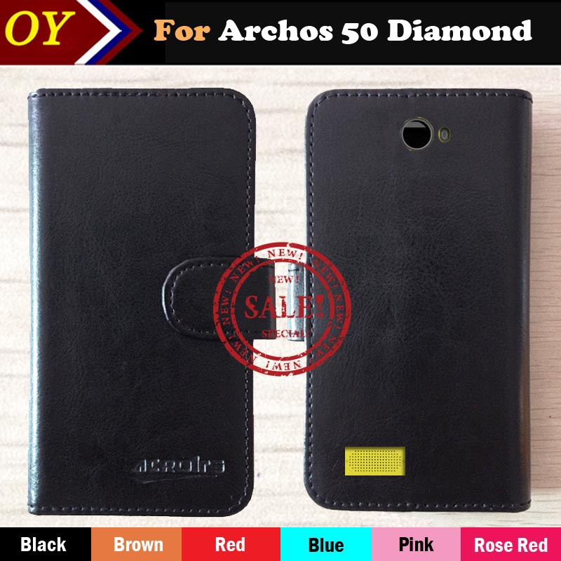 Archos 50 Diamond Case Fashion Dedicated Luxury Leather Protective Phone Cover Case For Archos 50 Diamond Card Slot Wallet(China (Mainland))