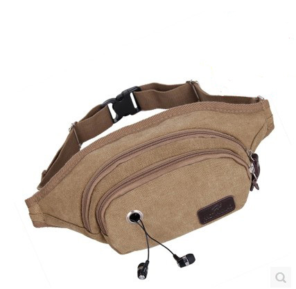 !Hot-selling Multifunctional Casual Canvas Waist Pack Outdoor Sports Bags E551 - Fiona's Wallet and Bag Store store