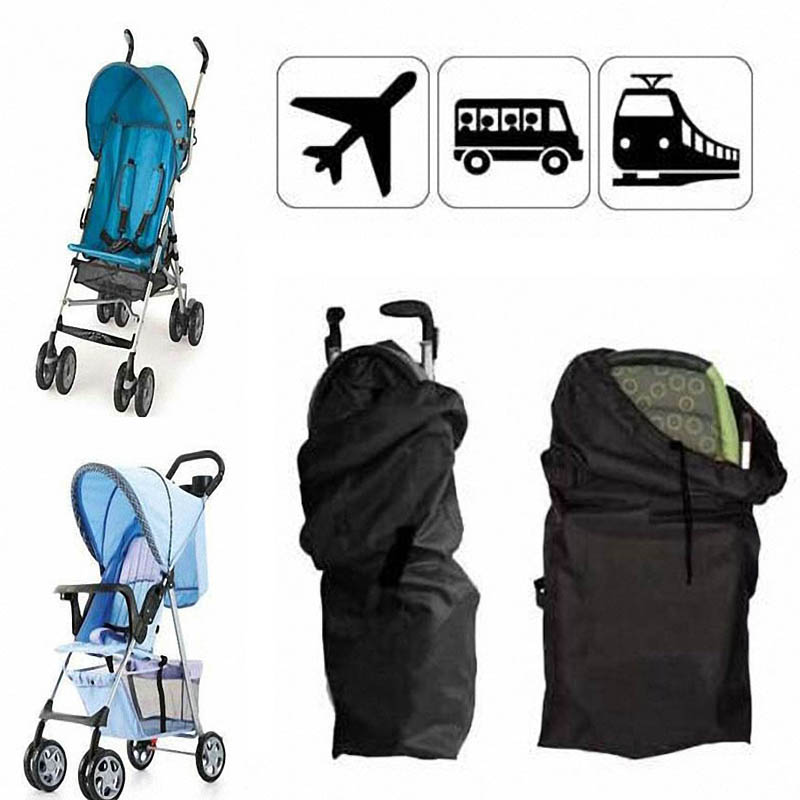 Baby Infant Child Gate Check Umbrella Standard Double Stroller Pram Pushchair Travel Bag Baby Carriage Buggy Cover Dropshipping(China (Mainland))