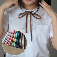 The new thin strips Smooth collar rope | Japanese high school uniform neck rope JK uniform cute kawaii collar bow tie