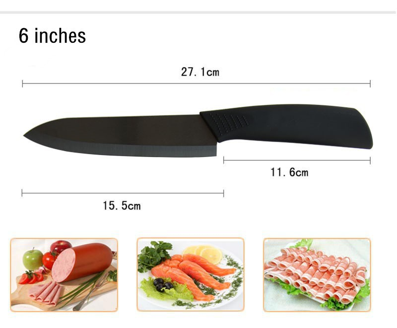"Buy 2015 Hot Sale zirconia ceramic knife set 3"" 4"" 5"" 6"" inch + Peeler + covers black blade black colors handle home kitchen knives cheap"