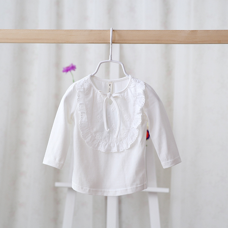 2014 New,baby girls cotton tops,children t shirts/tees,long sleeve,embroidery,5 pcs / lot,wholesale,1495<br><br>Aliexpress