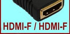 tracking number+Free Shipping+100pcs/lot ! HDMI Adapter/HDMI-F to HDMI-F Female Adapter video converter HDTV GOLD(China (Mainland))