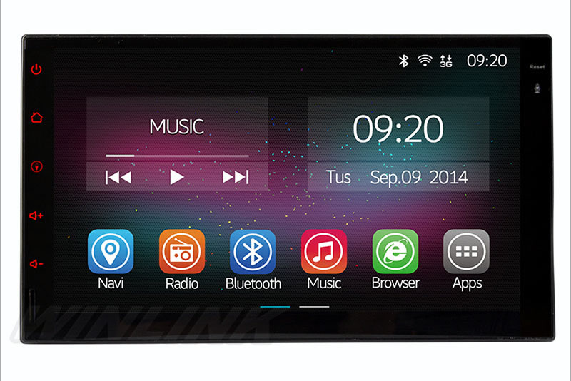 Quad Core Android 4 4 2 Car DVD GPS Navigation 2DIN Car Stereo Radio Car GPS