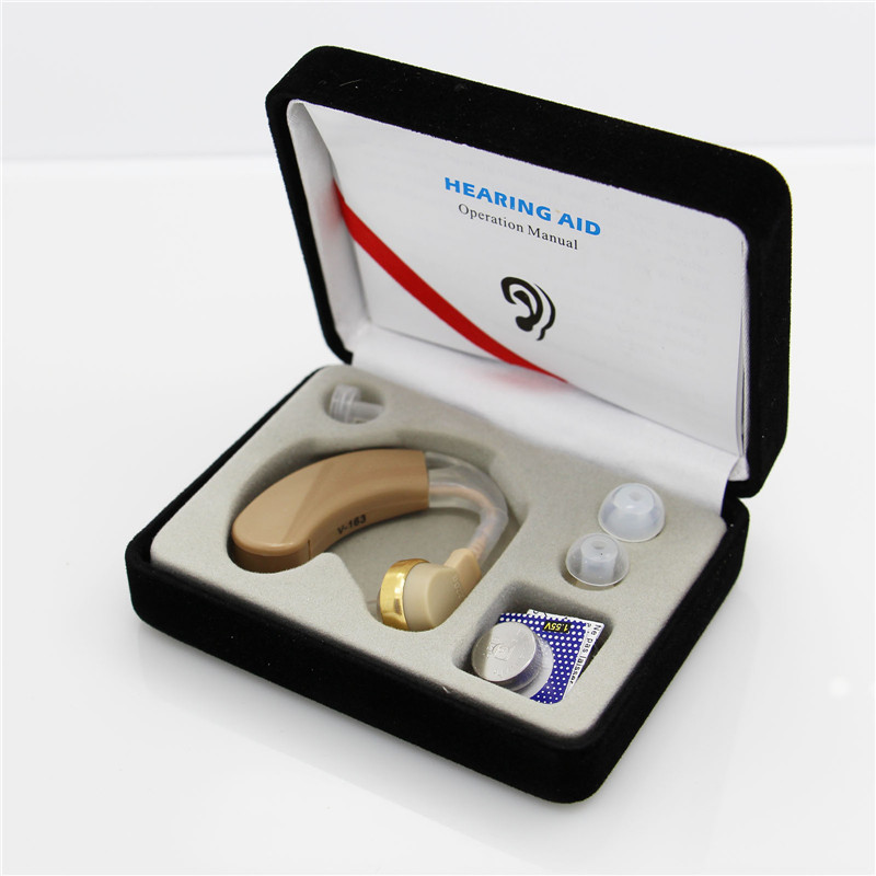 High Quality Hearing aid Amplifier Mini Ear Mini Bte hearing aid V-163 with AG5 battery hearing aid parts supplier USA(China (Mainland))